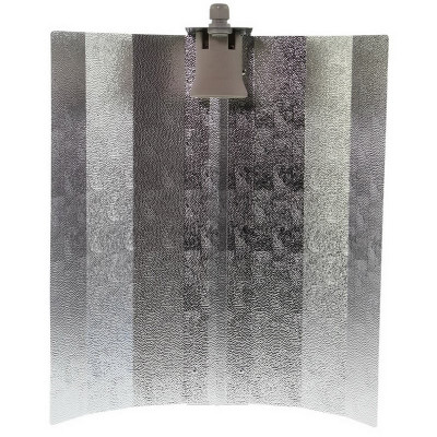 Hammered Reflector with V fold 47 x 47 cm